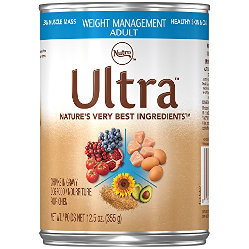 - Nutro Ultra Adult Weight Management Chunks In Gravy Canned Dog Food 12.5 Oz. Cans (Pack Of 12)