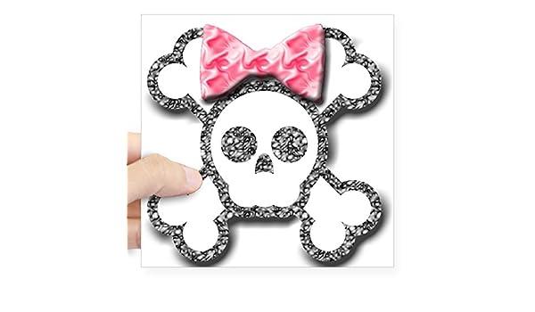 Pink Skull Bones Bow Tie Skull  funny car vinyl sticker decal window