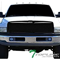 Topline Autopart Glossy Black Mesh Front Hood Bumper...