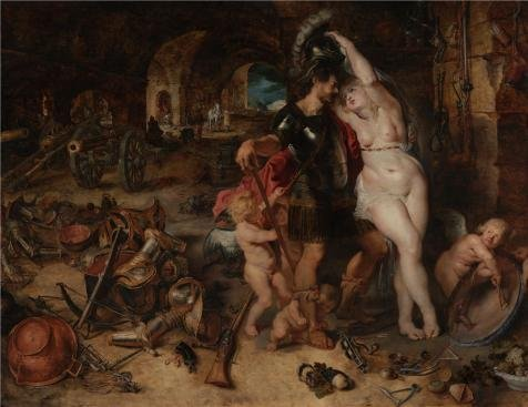 Oil Painting 'The Return From War- Mars Disarmed By Venus, About 1610 - 1612 By Peter Paul Rubens' Printing On High Quality Polyster Canvas , 16x21 Inch / 41x53 Cm ,the Best Living Room Artwork And Home Gallery Art And Gifts Is This High Definition Art Decorative Prints On Canvas
