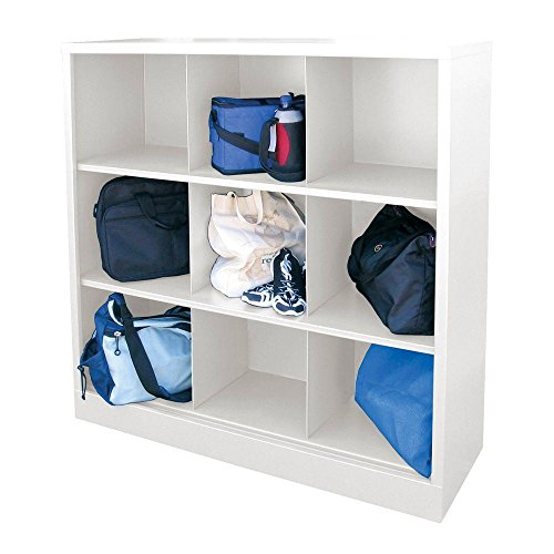 Cubby 46 in. x 52 in. White 9-Cube Organizer