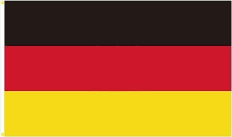 BGFint Deutschland Flagge Fahne 150x90cm Stoff 100g/qm: Amazon.de ...