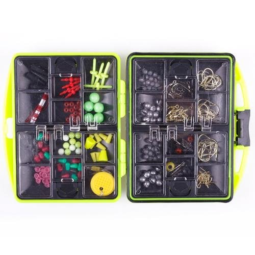 Fishing Fish Tackles Swivels Lures Baits JIG Head Hooks with Assorted Storage Box Case Tool Kit Set