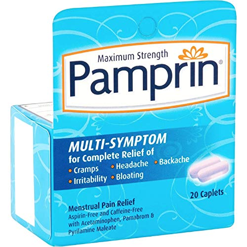 Pamprin Multi-Symptom Caplets 20 Caplets (Pack of 3)