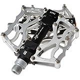 RockBros Bike Pedals MTB BMX DH Downhill Pedals 9/16'' (Silver)