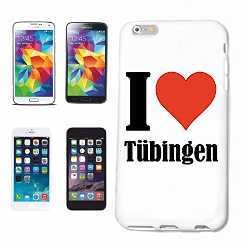 "Handyhülle iPhone 4 / 4S ""I Love Tübingen"" Hardcase Schutzhülle Handycover Smart Cover für Apple iPhone … in Weiß … Schlank und schön, das ist unser HardCase. Das Case wird mit einem Klick auf deinem"