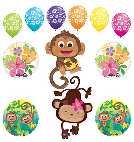 Mod Monkey Party Supplies Birthday or Gender Reveal