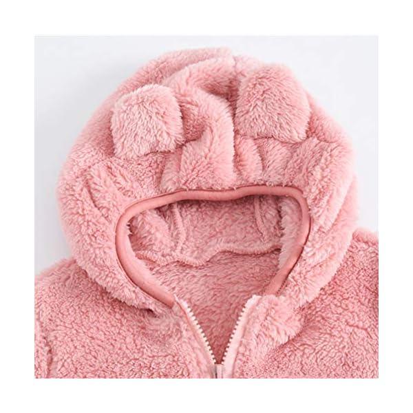 Fenical Cappotto con Cappuccio in Pelliccia Sintetica per Bambini Giacca a Mantello Invernale in Peluche a Forma di Orso… 2