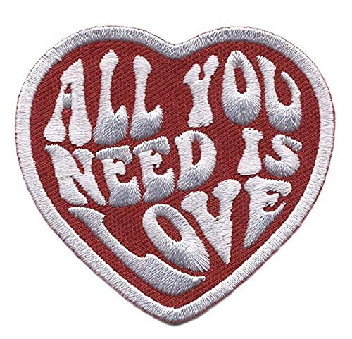 """Antrix All You Need is Love Military Heart Morale Patch Hook & Loop Tactical Funny Love Heart Patch -3.15"""""""