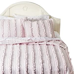 Amazon Com Simply Shabby Chic 174 Ruffle Quilt Pink Color