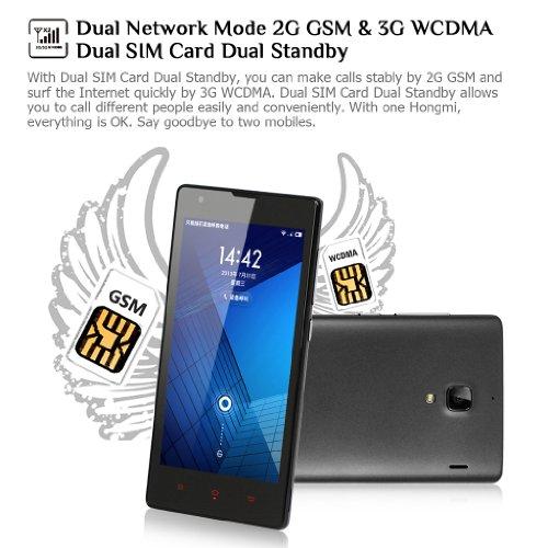 Xiaomi Hongmi Red Rice MIUI V5 OS Unlocked 3G Smartphone 4 7 Inch HD IPS  Screen MT6589T Quad Core 1 5GHz 1G RAM+4G ROM 8 0MP Camera Dual SIM Card  Dual