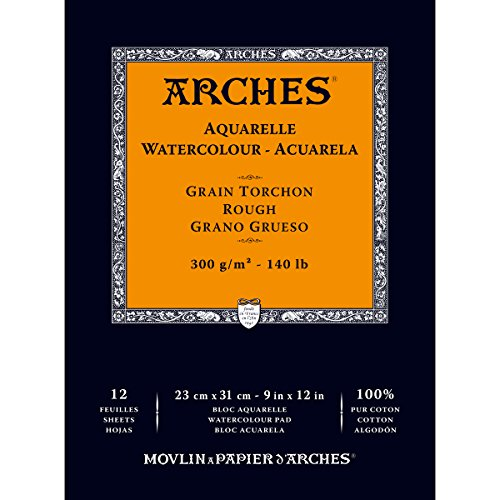 Arches Watercolor Paper Pad, 140 pound, Rough, 9