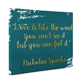 Love is Like the Wind Motivational Quote CANVAS Wall Art Home Décor