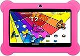 KOCASO [7 INCH] Quad Core Android 4.4 KitKat Kids HD Tablet PC- 8GB Storage W/ 32GB Expandable Memory, 1GB RAM, 1024x600, Dual Camera, WiFi/Bluetooth, Micro USB/SD Card Slot/FREE ACCESSORIES- Pink