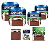 Football Game Day Party Tailgating 5 Item Supplies Pack Serves 16 Guests