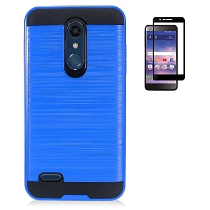 the latest f832d e4b98 LG K30 Case, Phone Case for LG Premier Pro L413DG, L413DL (Tracfone, Total  Wireless), Dual Layer Metallic Brush Finish Shockproof Protection Cover ...