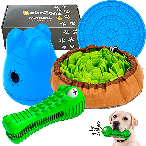 Total Enrichment & Fun – Interactive Toys and Puzzles for Dogs who Love to Lick Sniff Chew Eat and Play