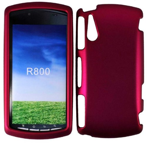 Rose Pink Rubberized Hard Snap-on Protector Shell Case Face Plate Cover For Sony Ericsson Xperia Play R800