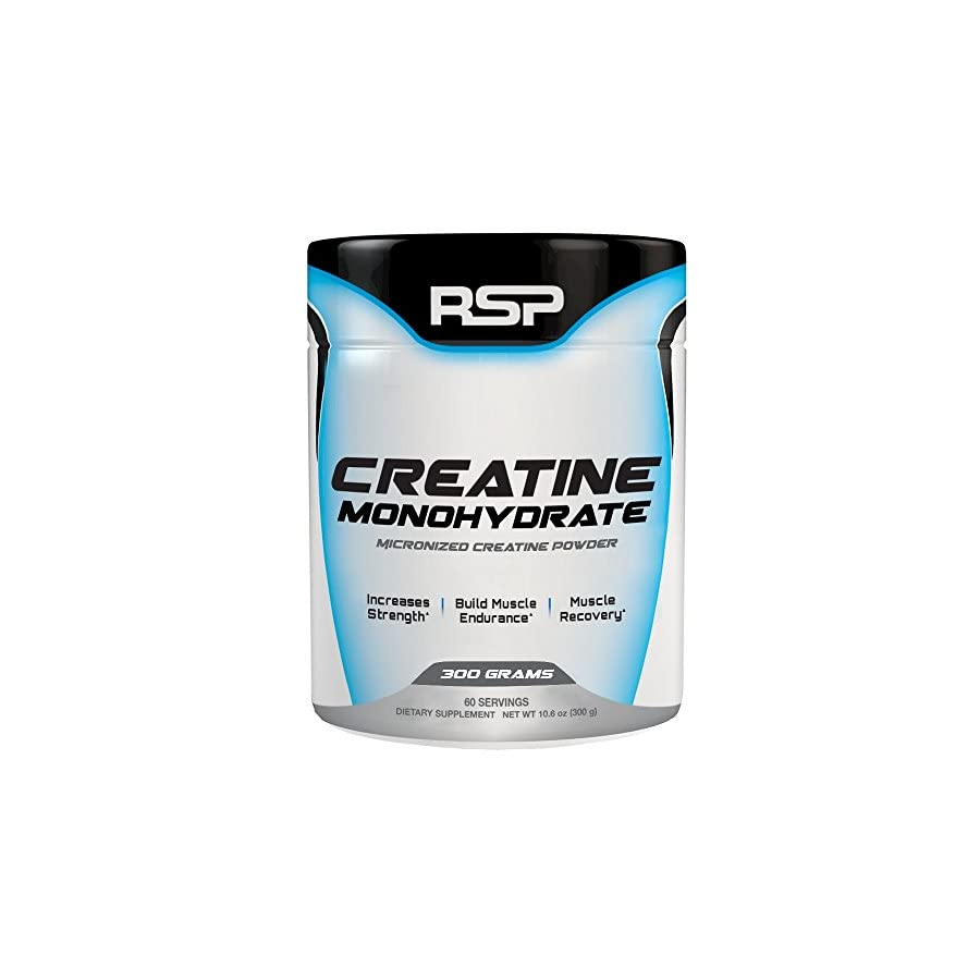 RSP Creatine Monohydrate – Pure Micronized Creatine Powder Supplement for Increased Strength, Muscle Recovery, and Performance for Men & Women, Unflavored