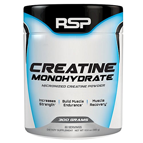 RSP Creatine Monohydrate - Pure Micronized Creatine Powder Supplement for Increased Strength, Muscle Recovery, and Performance for Men andamp; Women, Unflavored (300 Grams)