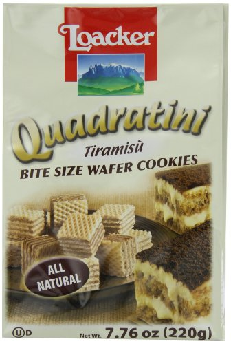 Loacker Tiramisu - Loacker Quadratini Tiramisu Wafer Cookies, 7.76-Ounce Packages (Pack of 8)