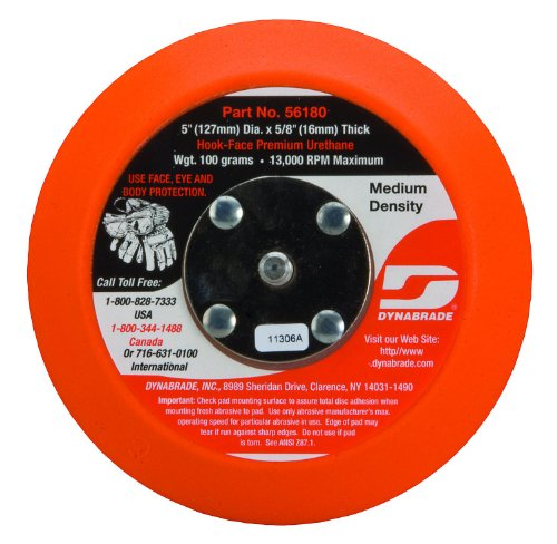 Dynabrade 56180 Non-Vacuum Disc Pad, 5-Inch -