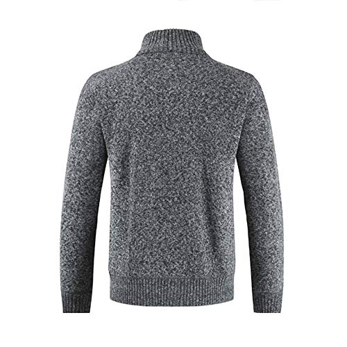 Mens Stand Men Collar Cardigan Tops Coats Deep Zipper Sweater Gray Give for Outwear Winter koiu❀❀Winter Coats Solid tIqqBv