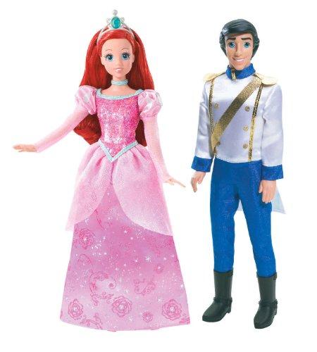 Disney Princess and Prince Ariel and Prince Eric Doll Set (Eric Mattel Ariel And)