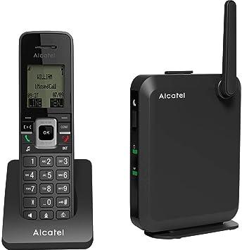 Alcatel IP2215 - Teléfono IP (Negro, Terminal inalámbrico, 50 m, 300 m, LCD, 90 x 65 Pixeles): Amazon.es: Electrónica
