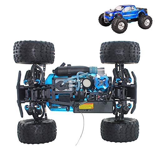 WYY RC Nitro Car,Buggy Off-Road Vehicle Toy,Alloy Four-Wheel Drive Bigfoot, Fuel Remote Control Car Simulation Car Model Toy for Adults,A
