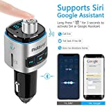 Nulaxy Bluetooth FM Transmitter for Car, 7 Color