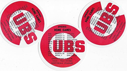 Vintage Chicago Cubs Spring Training Schedule for Scottsdale, Arizona (Free Shipping)