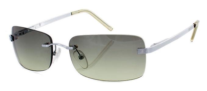 Rahmenlose Sonnenbrille mit spiegelnden Gläsern silber FUv4Kht8z