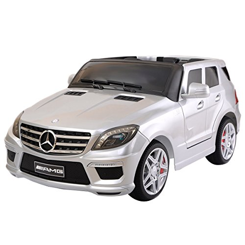 Silver Kids Ride On 12V Power Electric Car MP3 RC Remote Control