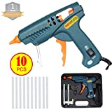 AKEfit Hot Glue Gun,High Temperature Melting Glue Gun Kit with 10pcs Glue Sticks, for Arts & Crafts Use,Christmas Decoration /Gifts, Sealing and Quick Repairs(60-watt, Blue)