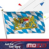 MOFAN Bavaria Flag Bavaria with Lions Flag Polyester Nicely Stitched and Vivid Bright Color Bavarian Lion Crest Flags Banner with 2 Solid Brass Grommets 3x5 Ft Indoor/Outdoor Decoration