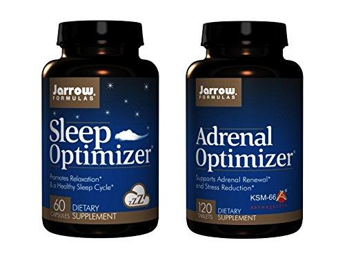 Jarrow Formulas Supplement Bundle  2 Items    Sleep Optimizer   Adrenal Optimizer