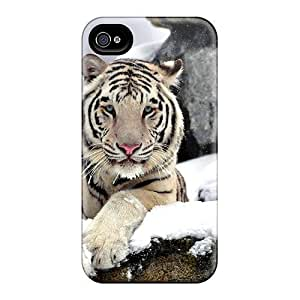 High Impact Dirt/shock Proof Case Cover For Iphone 6 plus (graceful White Tiger)