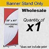 Best Deal Depot 33''X81'' Premium Retractable Roll Up Banner Stand