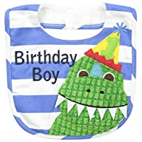 Mud Pie Baby-Boys Newborn Birthday Dino Bib, Birthday Boy, One Size