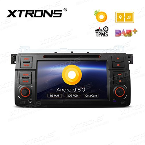 XTRONS 7 Inch Android 8.0 Octa Core 4G RAM 32G ROM HD Digital Multi-touch Screen OBD2 DVR Car Stereo DVD Player Tire Pressure Monitoring TPMS for BMW E46 M3 Rover75