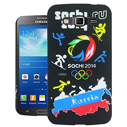 Heartly World Series Printed Design Hard Bumper Back Case Cover for Samsung Galaxy Grand 2 G7106 G7102   Russia Black