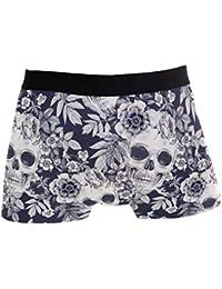 INTERESTPRINT Boxer Briefs Mens Underwear Wild Plums XS-3XL