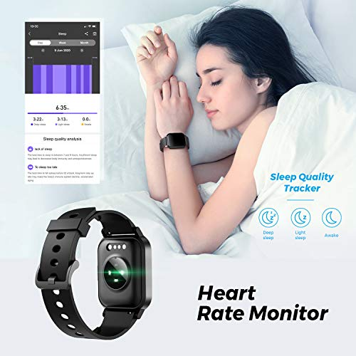 SoundPEATS Watch 1 Smart Sports Watch Health and Fitness Tracker with Heart Rate Monitor Sleep Quality Tracker IP68 Waterproof 1.4\