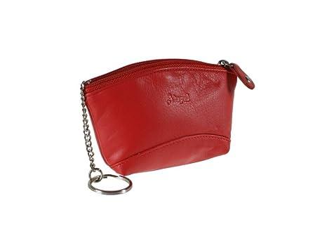 CAL FUSTER - Llavero monedero de color rojo en piel. Medidas ...