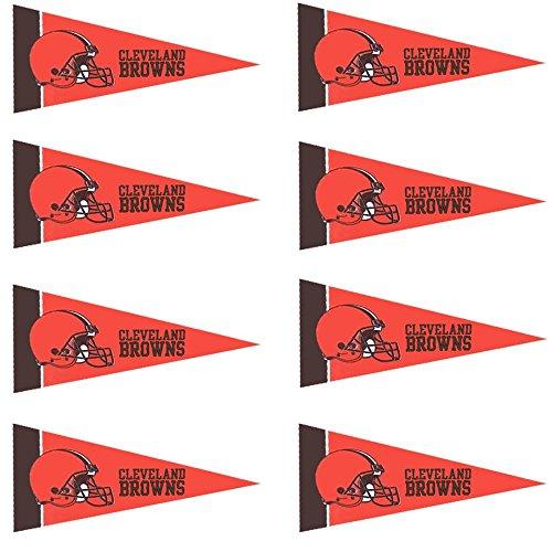 Cleveland Browns NFL Team Logo Home Office Bedroom Garage Decoration - Mini Pennant Set - 8PC