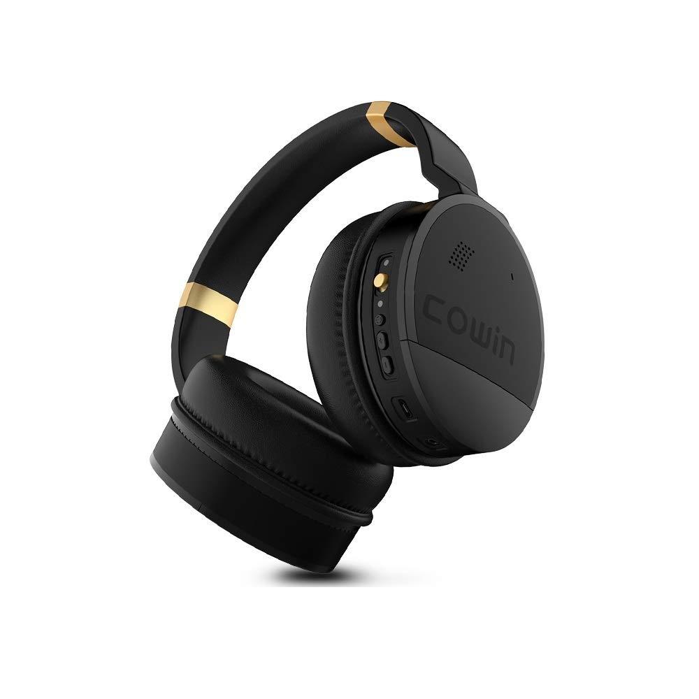 マイクロフォン、ステレオの深い低音のヘッドホーンが付いているヘッドホーンANC無線ブルートゥースのイヤホーンを取り消す活動的な騒音 B07QYSXS42