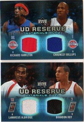 2006-07 UD Reserve Materials Dual #AR LaMarcus Aldridge Brandon Roy Jersey Card Serial (Brandon Roy Jersey)