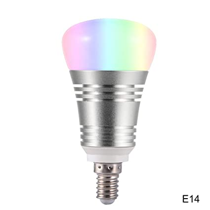 luoOnlineZ - Bombilla LED Inteligente con WiFi, 16 Millones de Colores, para Google Home