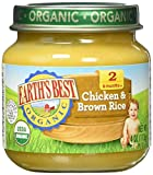 Earth's Best 2nd Foods Dinners-Chicken and Rice-4 Ounces-12 Pack